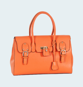 Trendy Colors Orange Rexine Handbag For Women